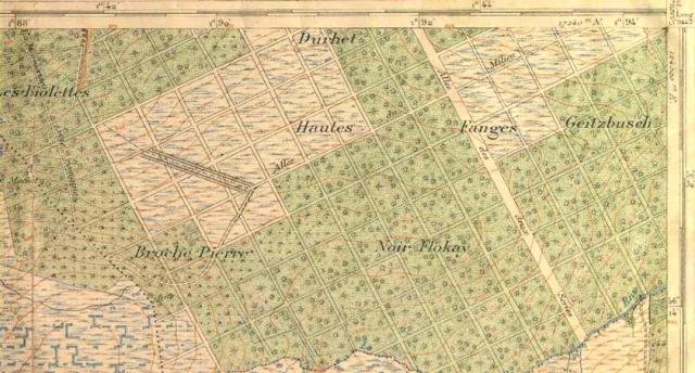 Fagne des Deux-Séries : extrait d'une carte du début du XXe siècle